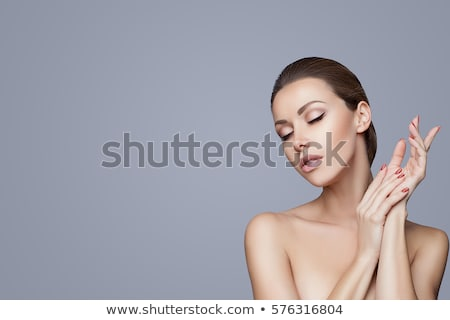 close up picture of a young beauty woman Stock photo © feedough