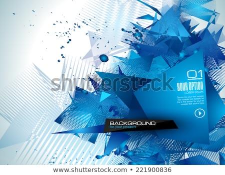 современных брошюра аннотация геометрический плакатов Сток-фото © DavidArts
