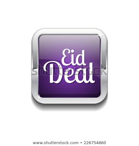 eid deal purple vector icon button stock photo © rizwanali3d