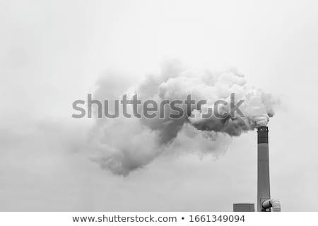 Smoke clouds from a high chimney Stock photo © smuki