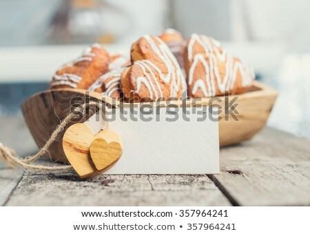 cookies · decorado · cinta · oscuro · rojo - foto stock © cipariss