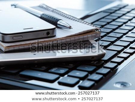 Foto stock: Caderno · caneta · negócio · educação