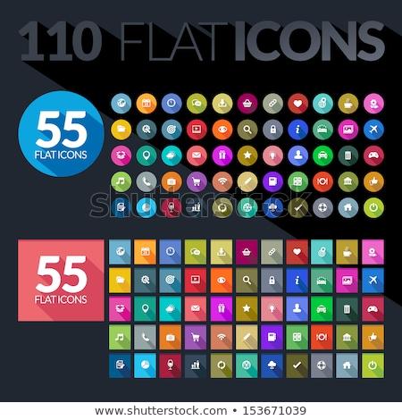 download flat design icon Stock photo © nickylarson974