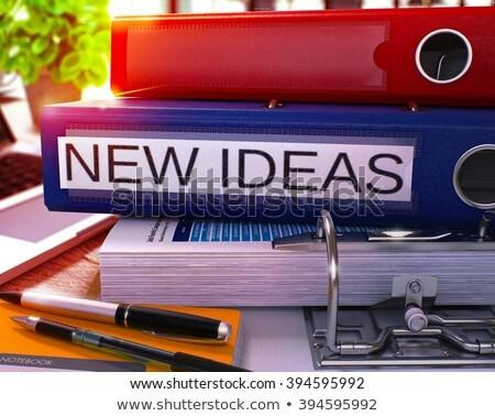 Rosso ufficio cartella sogni desktop Foto d'archivio © tashatuvango