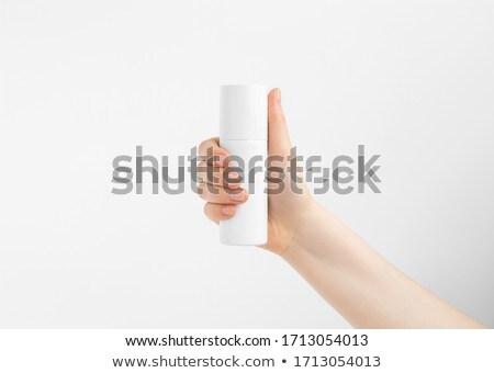 Kéz nő üveg kezek ecset üveg Stock fotó © artfotoss