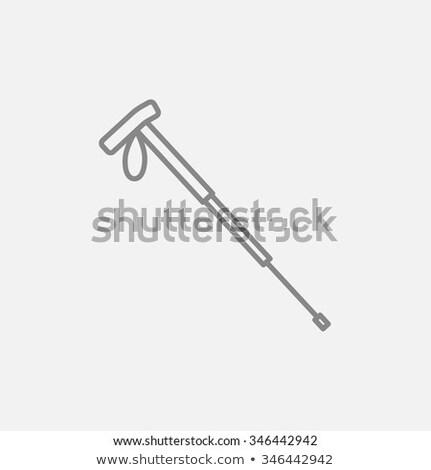 Kirándulás pólus vonal ikon háló mobil Stock fotó © RAStudio