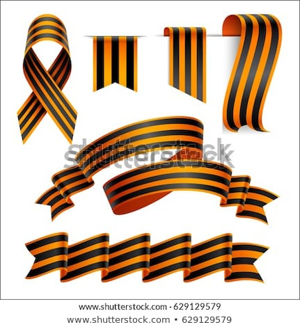 collection st george ribbons on white background stock photo © valeriy
