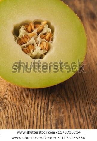 ízléses friss dinnye gyümölcs szeletek asztal Stock fotó © stevanovicigor