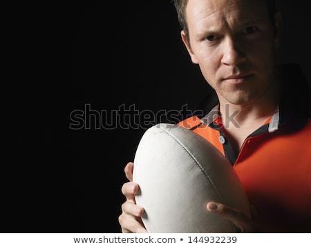 Ritratto maschio rugby giocatore palla Foto d'archivio © wavebreak_media