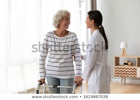 Segít beteg séta sétál keret klinika Stock fotó © wavebreak_media