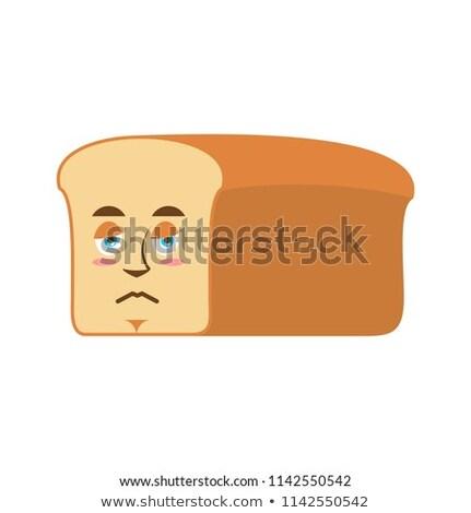 Bread sad Emoji. piece of bread sorrowful emotion isolated Stock photo © popaukropa