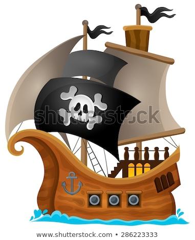 Pirate in boat topic image 1 Stock photo © clairev
