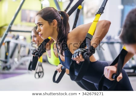 Trx fitness straps for working with own weight Stock photo © boggy