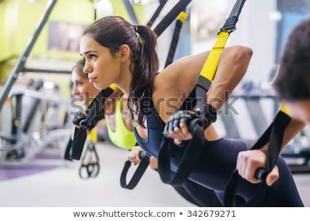 Fitnessz dolgozik saját súly közelkép kilátás Stock fotó © boggy