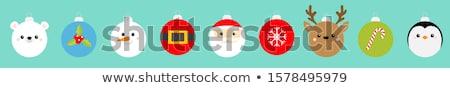 Natal bola pinguim ilustração cara desenho animado Foto stock © adrenalina