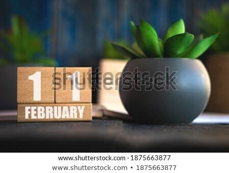 Cubes calendar 11th February Stock photo © Oakozhan