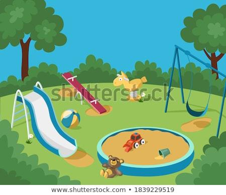 Vide aire de jeux amusement équipement illustration design Photo stock © colematt