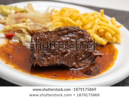 Goulash stew slow cook with pasta Stock photo © Peteer