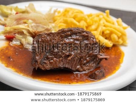 stoven · vertragen · kok · pasta · gekookt · eigengemaakt - stockfoto © Peteer
