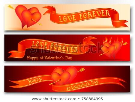 3 Arrows 2 Red Hearts Header Stock photo © limbi007