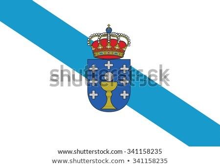 Galicië vlag gemeenschap Spanje drogen aarde Stockfoto © grafvision
