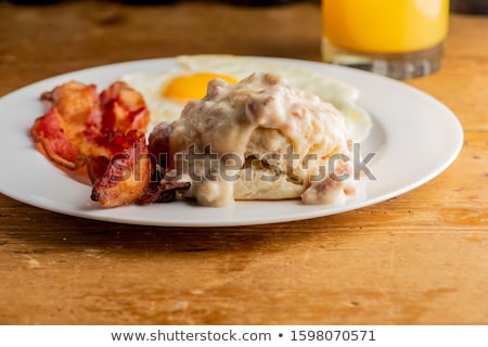 Southern Biscuits and Sausage Gravy Stock photo © StephanieFrey