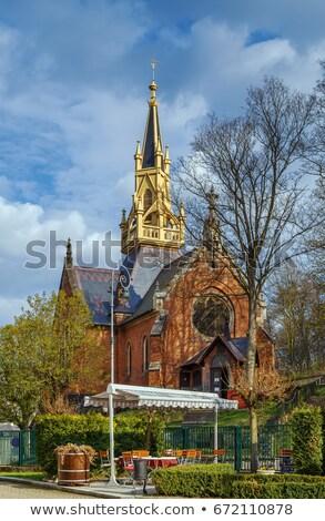 Kilise aziz yıl Çek Cumhuriyeti gökyüzü tuğla Stok fotoğraf © borisb17