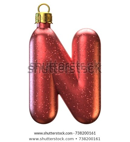 Holiday Font Letter N Isolated Stock photo © Lightsource