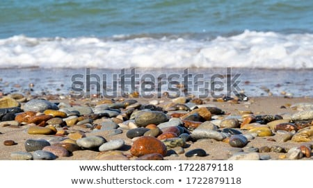 Blue stone pebbles as abstract background texture, landscape arc Stock photo © Anneleven