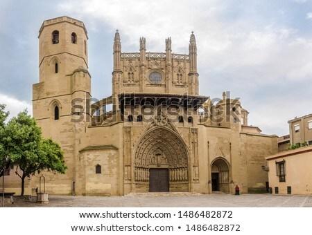 Kathedraal Spanje architectuur gothic bouw Stockfoto © borisb17