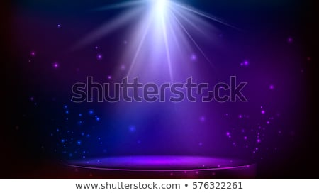 Round stage podium with light. Stage vector backdrop. Festive blue podium scene with carpet for awar Stock photo © olehsvetiukha
