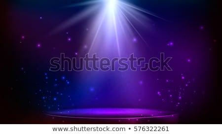 Sahne podyum ışık vektör arka plan Stok fotoğraf © olehsvetiukha