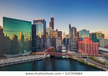 Chicago ufuk çizgisi renk binalar yansımalar Stok fotoğraf © ShustrikS