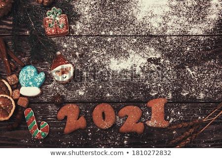 Different ginger cookies 2019 year Stock photo © olira