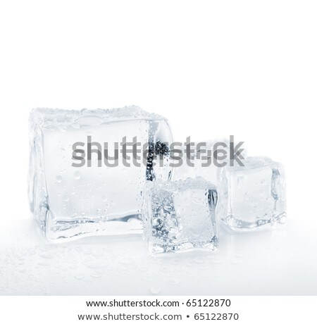 Horizontal pattern from ice cubes on a white background. Stock photo © artjazz