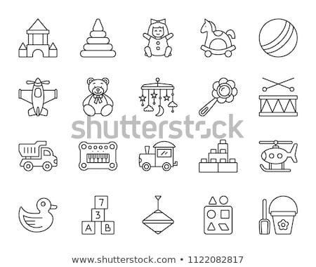 Mobile Toys Icon Vector Outline Illustration Stock photo © pikepicture