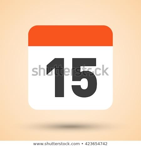 Simples preto calendário ícone 15 data Foto stock © evgeny89