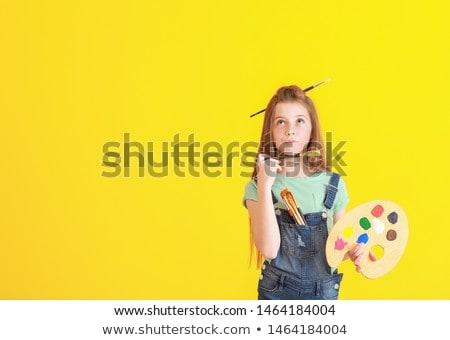 Little Painter Stock photo © Anna_Om