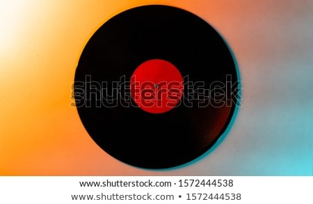 Retro white vinil record as a creative background. Stock photo © artjazz