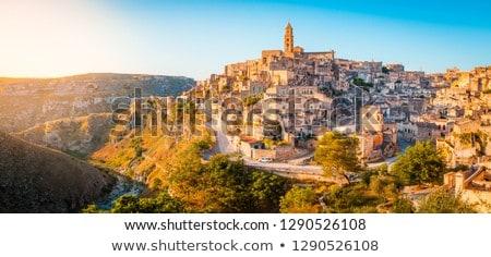 óváros déli Olaszország naplemente égbolt város Stock fotó © elxeneize