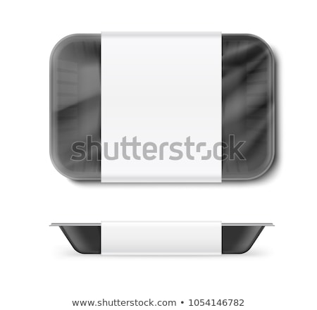 vector set of tray Stock photo © olllikeballoon