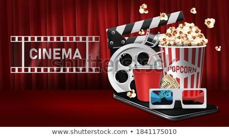 Online cyfrowe kina film czasu taśmy filmowej Zdjęcia stock © SArts