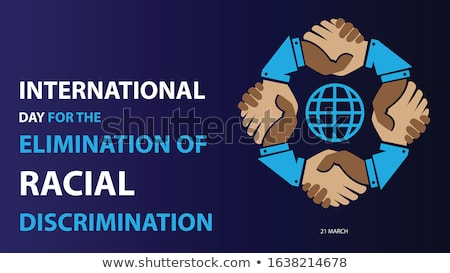 Racial discrimination abstract concept vector illustration. Stock photo © RAStudio