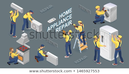 Broken Washer isometric icon vector illustration Stock photo © pikepicture