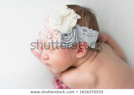 portrait of a little girl with bow Stock photo © photography33