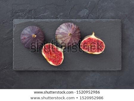пластина · продовольствие · лист · синий · каменные · черный - Сток-фото © Zerbor