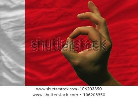 Neden jest Bahreyn bayrak adam Stok fotoğraf © vepar5