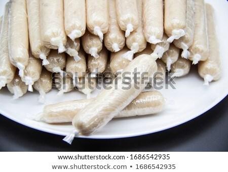 Stock fotó: Házi · húsgombócok · házi · készítésű · tálca · kész · szakács