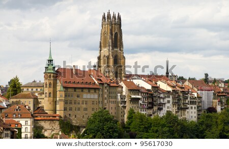 Cathedral of St. Nicholas in Fribourg, Switzerland Stock photo © Elenarts