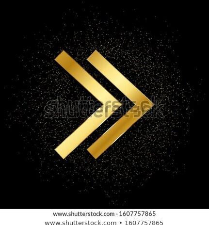 Round Arrow Golden Vector Icon Design Stock photo © rizwanali3d